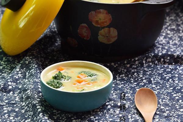 小米汁蔬菜浓汤的做法