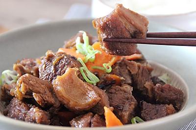 红烧牛肋条肉,有荤有素一锅端|惊蛰云