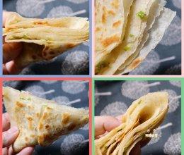 千层葱油饼  烙咸油馍 这样和面!放凉也不硬 半烫面葱花饼的做法