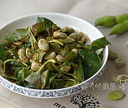 折耳根拌蚕豆的做法