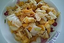 辣白菜炒馒头的做法