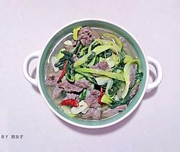 长命菜 青菜煮牛肉片#麦子厨房美食锅#的做法