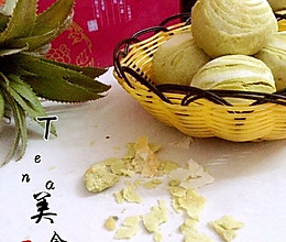 抹茶绿豆酥的做法