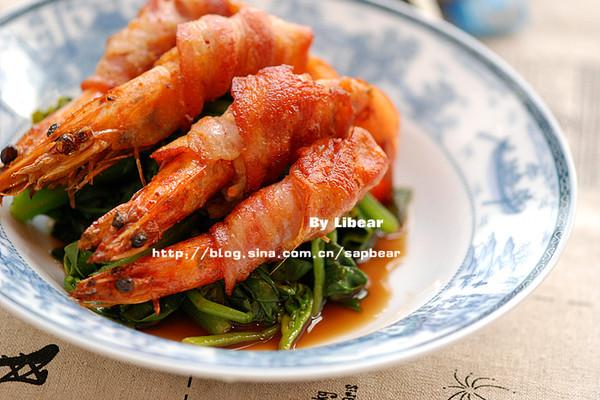 培根煎大虾 --- 零难度的豪华宴客菜的做法