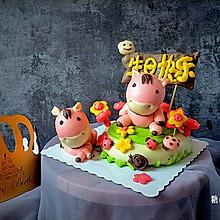 小马蛋糕造型馒头