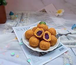 #童年不同样,美食有花样#奶香紫薯地瓜丸的做法