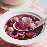 美容养颜甜汤(百合皂角米紫薯糖水)的做法图解8