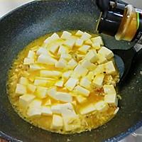 #快手又营养,我家的冬日必备菜品#咖喱真蟹黄豆腐的做法图解10