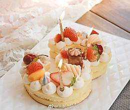 网红数字生日蛋糕的做法