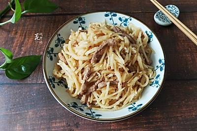 土豆丝炒饼
