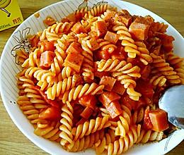 番茄意大利螺旋粉的做法