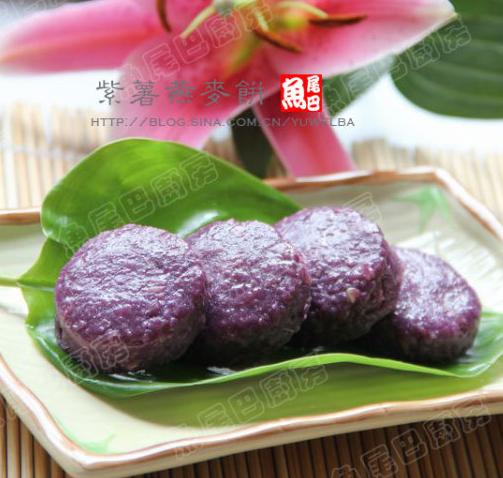 紫薯燕麦饼的做法
