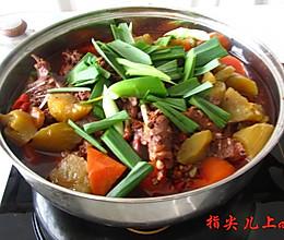 兔肉火锅的做法