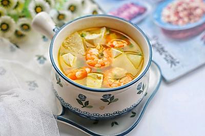 冬瓜虾仁豆腐汤