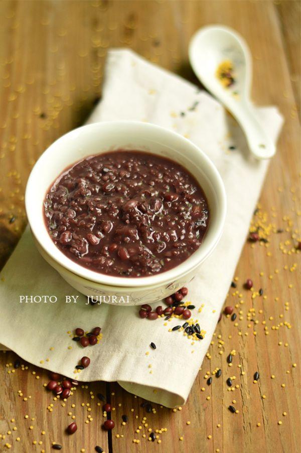 红豆小米粥—冬季暖身