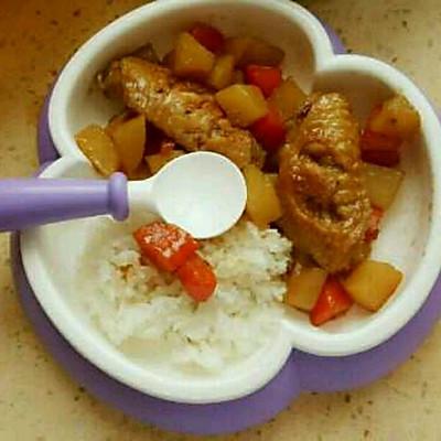 土豆胡萝卜炖鸡翅(宝宝辅食)