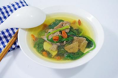 「迟の味」菠菜猪肝汤