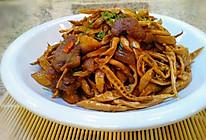 咸肉炒笋干的做法