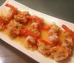 蒜蓉对虾的做法