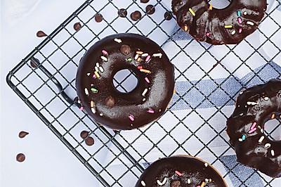 烤箱版#巧克力甜甜圈