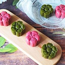 #入秋滋补正当时#抹茶奶黄蔓越莓&&草莓豆沙核桃冰皮月饼!
