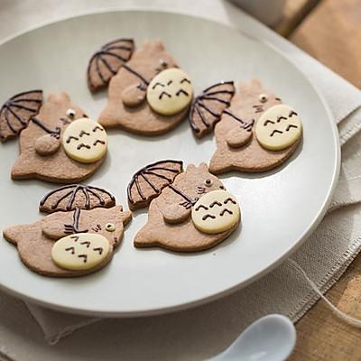 新年哄娃必备——打伞的龙猫饼干