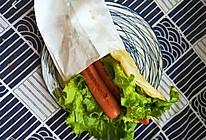 #憋在家里吃什么#早餐简易版的鸡蛋灌饼(手抓饼版)的做法