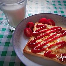 煎蛋吐司片