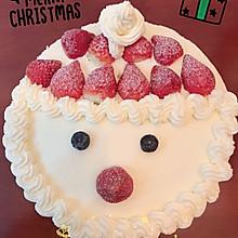 圣诞蛋糕 圣诞老人戚风蛋糕8寸6寸