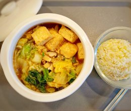 只需要多一步,连汤都吃光的超营养白菜豆腐素菜煲的做法