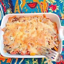 牛肉鲜虾芝士焗饭