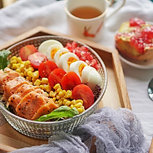 健身食谱|石榴藜麦三文鱼色拉,高蛋白轻食餐#硬核菜谱制作人#