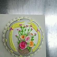 乳酪戚风淡奶油裱花+#约会OMF#