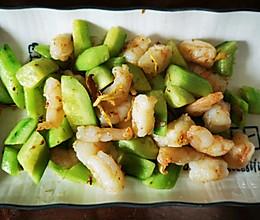 清炒虾仁黄瓜的做法