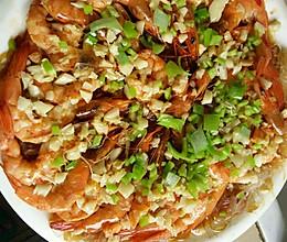 蒜蓉粉丝蒸大虾的做法