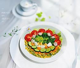 #夏日开胃餐#10分钟健康早餐*开胃减脂拌菜的做法