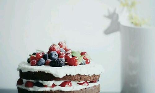 巧克力海绵裸蛋糕的做法