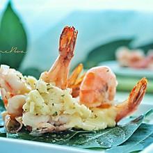 #秋天怎么吃#不用烤箱的芝士焗大虾