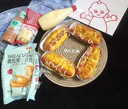 #321沙拉日#火腿肠南瓜面包的做法