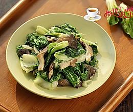 平菇炒小白菜的做法