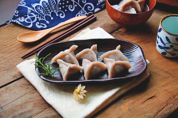 韭黄芋饺的做法