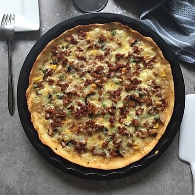 不用擀面杖的薄皮脆底披萨(9寸)