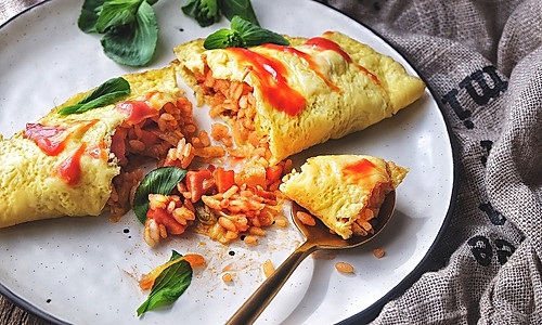 快手零失败的 番茄蛋包饭的做法