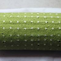 ~水玉抹茶夹心蛋糕卷~一抹清新绿的做法图解36