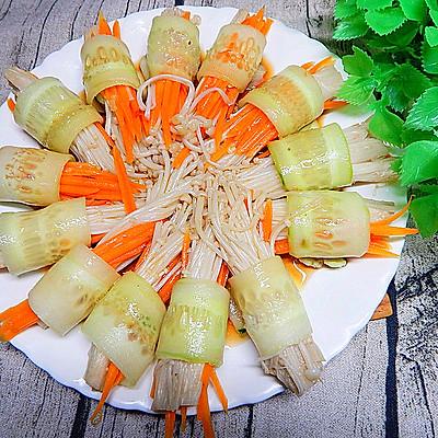 黄瓜金针菇卷