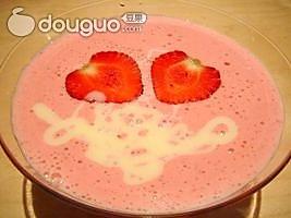 草莓豆腐奶的做法