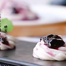 #百变水果花样吃#蓝莓酱淋山药泥
