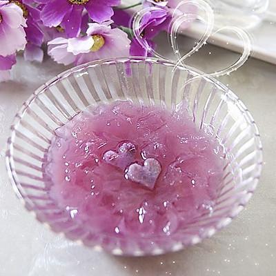 心形紫薯雪耳羹