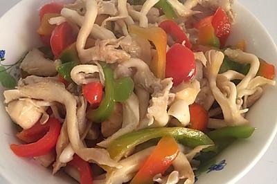 红椒炒黄蘑
