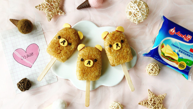#安佳儿童创意料理#轻松熊雪糕饭团的做法
